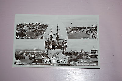 1930's Real Photograph Southsea Clarence Promenade,The Rock Gardens  Etc