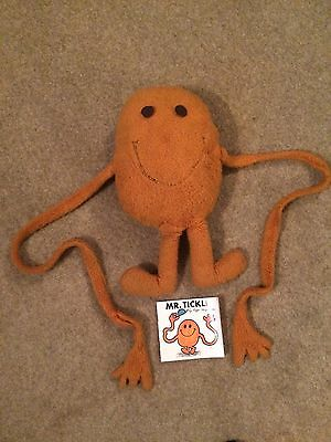 Vintage Mr Men Mr Tickle Soft Plush Toy Cuddly Teddy Possibly Chad Valley 70s 80