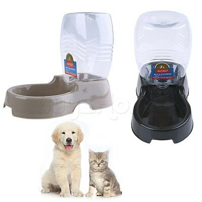 Automatic Pet Cat Dog Animal Food Water Bowl Feeder Dispenser Easy Clean 940ML