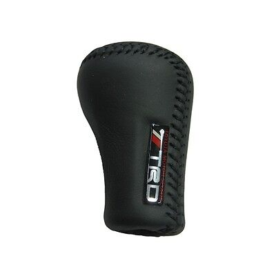 Black/Red  TRD Manual Leather 5 Speed Gear Shift Knob Shifter For TOYOTA