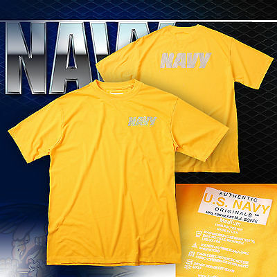 Original US NAVY PT Training Shirt • Athletic • USN • T Shirt • M • Army • Patch