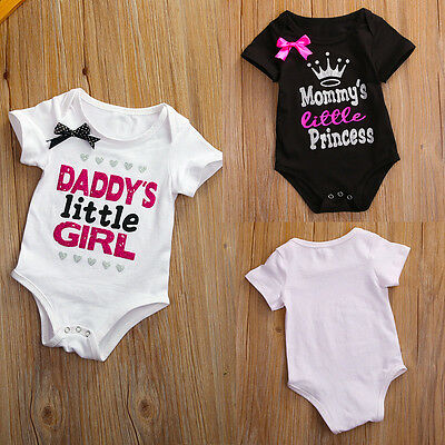 New Summer Newborn Baby Girl Boy Cotton Romper Jumpsuit Bodysuit Outfits Clothes