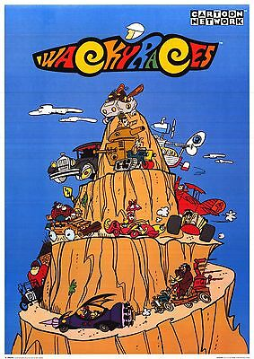 "TV POSTER~Wacky Races 1996 Original 25x35"" Hanna-Barbera Cartoon Network NOS~"
