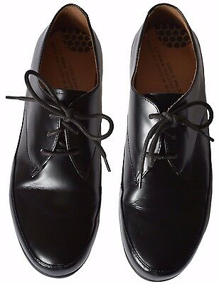 Fitflop Women's Black Patent Leather Lace-Up Derby Shoes - Uk 7 Eur 41 Us 9