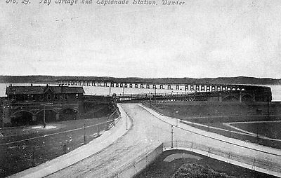 Printed Photo Postcard Esplanade Station Dundee