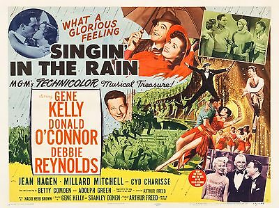 """Singin in the Rain 1952 16"""" x 12"""" Reproduction Movie Poster Photograph 2"""