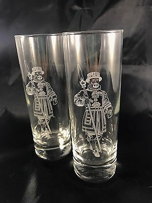 Beefeater Etched Tall Gin Glasses Set Of 2