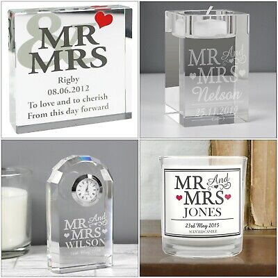 Personalised Gifts Mr & Mrs Weddings, Anniversaries, Valentine's Day, Newlyweds