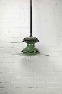 Industrial Factory Green Pendant Ceiling Hanging Light Lamp Edison Bulb