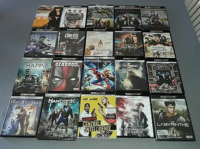 lot de 20 blu ray 4k ultra hd