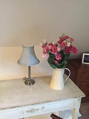 Laura Ashley Small Bedside Table Column Lamp Light Brass
