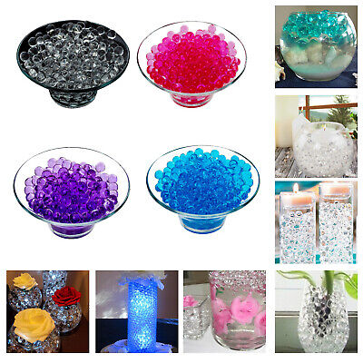 50 Giant Water Aqua Gems Soil Bio Gel Ball Beads Wedding Party Decoration Vase