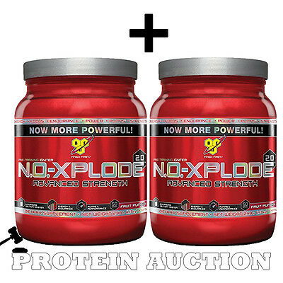 2 x BSN NO Xplode 2.0 Pre Workout Igniter 1kg 50 Servings BB End June 2016