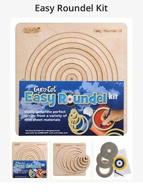 Easy Roundel Kit Circle Stencil Gyro cut Gyro-cut Circle Cutting Wooden Template