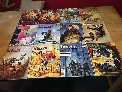 Collection of Dragon Magazine 33 Issues, ranging from 130 to 178