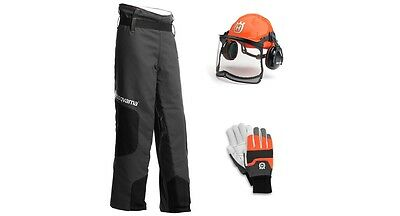 Husqvarna Chainsaw Safety Kit Helmet Gloves Chaps Ppe 5819660-01 135 Stihl