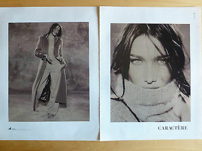 Advertising Publicité CARACTERE prêt à porter CARLA BRUNI (2 pages)