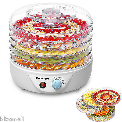 NEW Electrical Food Dehydrator Machine Preserver with Thermostat Control 5 Tier