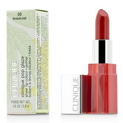 NEW Clinique Pop Glaze Sheer Lip Colour + Primer (# 03 Fireball Pop) 3.9g/0.13oz