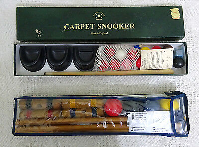 Croquet Set AND Townsend Carpet Snooker Set Both In Excellent Condition