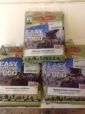 6 x Ration Meals. Eat Hot or Cold. No Refrigeration Required.  Camping Cadets