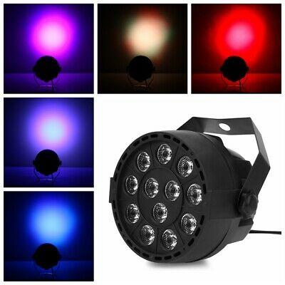 12 LEDs RGBW Color Mixing Par Lamp 8CH Voice Activated Light for Stage Parties