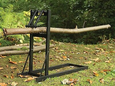 Saw Horse Log Holder Heavy Duty Metal Folding Stand For Cutting Wood Logs Grip