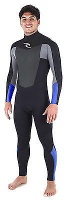 Rip Curl Omega 5/3 GB Back Zip Wetsuit (Blue, MT) Mens Unisex Surfing