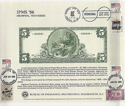 1986 Memphis Paper Money Show: 1902 5 Us Dollar National Currency