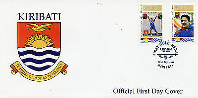 Kiribati 2015 FDC XX Commonwealth Games 1st Gold Medal 2v Cover Sports Stamps