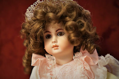 "11"" Reproduction bisque/composition french/german pierced ear doll"