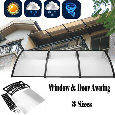 Door Window Canopy Awning Rain Shelter Front Back Porch Shade Patio Roof Cover