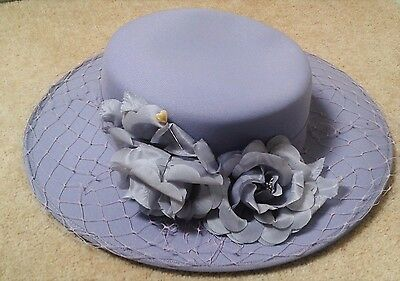 Eastex hat lilac flower detail wedding mother of the bride / groom