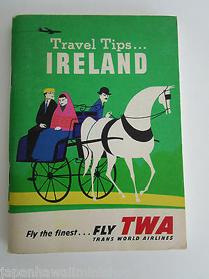 TWA Trans World Airlines TRAVEL TIPS GUIDE to IRELAND ÉIRE 1960 (USA edition)