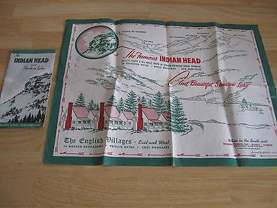 Indian Head Shadow Lake English Villages Advertising North Woodstock NH Pamphlet
