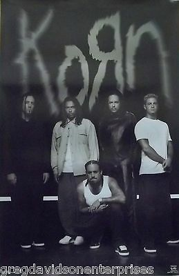 Korn 23x35 Black And White Group Poster