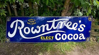 Large Original Rowntree's Elect Cocoa Advertising Sign