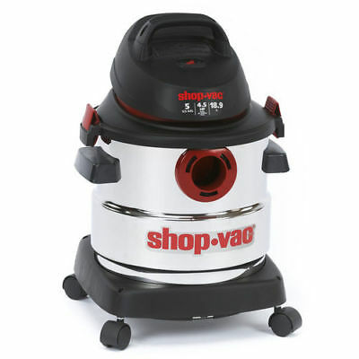 Shop-Vac 5 Gallon 4.5 Peak HP Stainless Steel Wet/Dry Vacuum 5986000 NEW