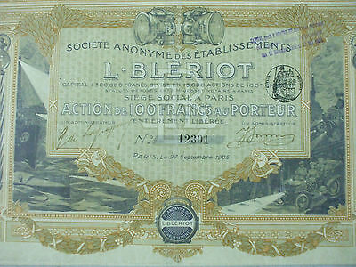 action phares   automobiles  bleriot 1905  16 coupons