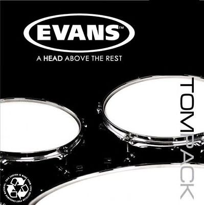 "Evans EC2 Clear American Fusion 10,12,16 Tom Drum Head Pack *FREE 14"" SNARE HEAD"