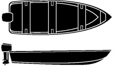 Seachoice 12'6  V-Hull Fish Wide Cover 50-97641
