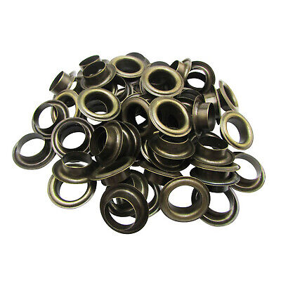 100 Pcs 14mm Eyelets Grommets & Washers Rust Proof for Banners Tarpaulin Leather