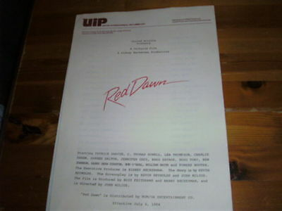 """""""Red Dawn"""" Movie Synopsis and 5 stills-excellent cond."""