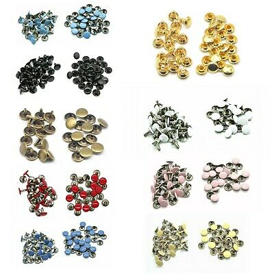 10mm Double Cap Rivets Tubular Assorted Colours Handbags Leather Crafts x 100