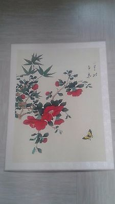 large antique Chinese painting on silk signed