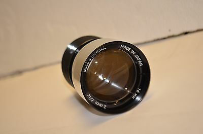 "Bell & Howell 16mm 2"" f/1.2 Projection Lens. Good Used!"