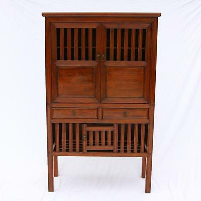 RARE Antique Chinese Cabinet, Linen, Wine Storage Red Cypress Kitchen Ming? - RARE ANTIQUE CHINESE Cabinet, Linen, Wine Storage Red Cypress