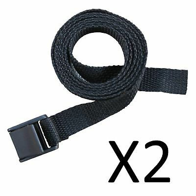 "A&R Ice Hockey Latch Style Pant Belt Adjustable 52"" One Size Fits Most (2-Pack)"