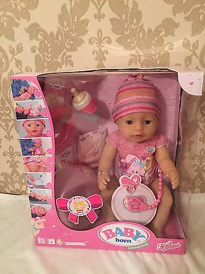 New In Box - Baby Born Interactive Doll And Accessories Zapf Creation