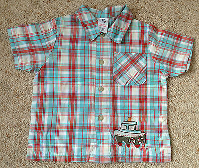 Baby Boys Short Sleeved Check Shirt From Boots  Age 3-6 Months  Ex Cond